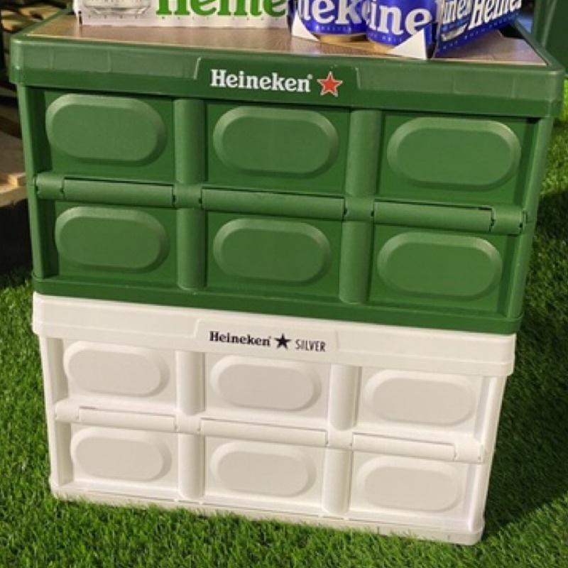 海尼根全星野餐折疊收納箱桌 綠🈶️貨綠色不含酒