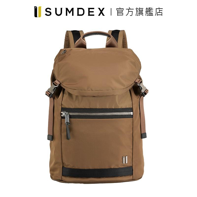 Sumdex 都會休閒商務後背包 NON-793TK 咖啡色 官方旗艦店