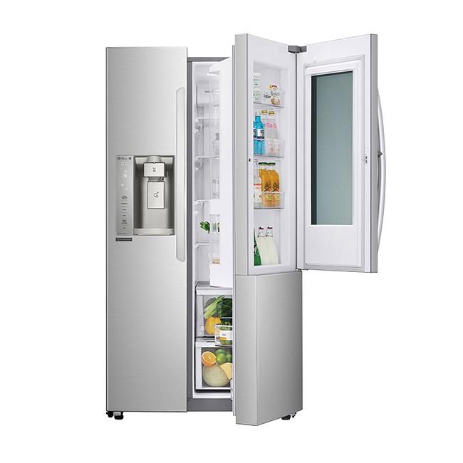 LG 敲敲看門中門變頻對開冰箱 GR-QPL88SV【大潤發】