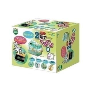 日本Marukan可計時鼠鼠雙層遊戲屋M號(綠色)MR-758=白喵小舖= 新北市