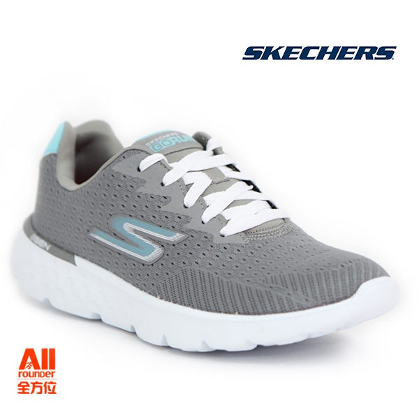 【Skechers思克威爾】女款跑步系列 GO Run 400- 淺灰色(14804GYBL)全方位
