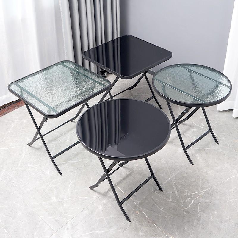 折疊桌子餐桌家用小桌子戶外擺攤簡易便攜式正方形玻璃圓桌*qh50bab1sr
