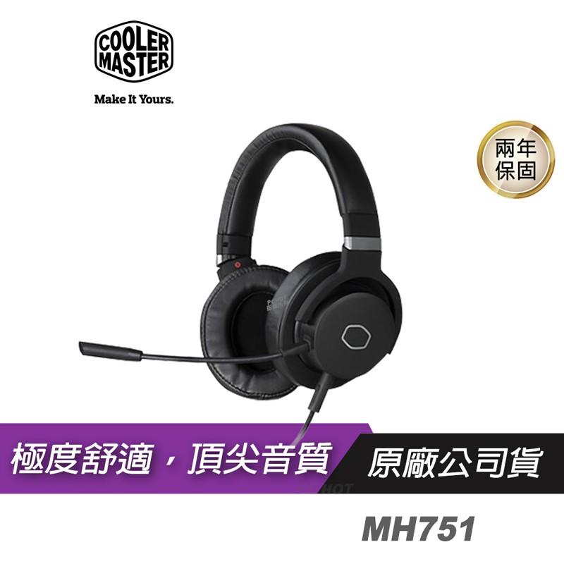 Cooler Master 酷碼 MH751 電競耳機 耳罩式/40mm/3.5mm/線控/可旋轉/可拆式