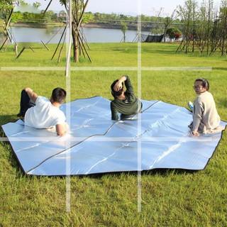 ((六角鋁箔墊))雙面加厚 加大240/ 300/ 386 防潮墊 超輕 鋁膜墊 防水地墊 戶外露營 帳篷內墊 睡墊 野餐垫