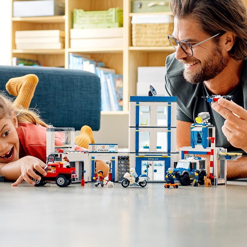 【花園小店】樂高city城市組系列60246警察局男孩子拼裝積木玩具禮物6歲+