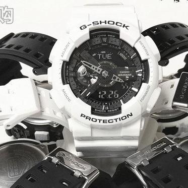 卡西歐Gshock手錶男錶GA-110GW-7A/1A/400/GAX/100B/BW/700黑白配