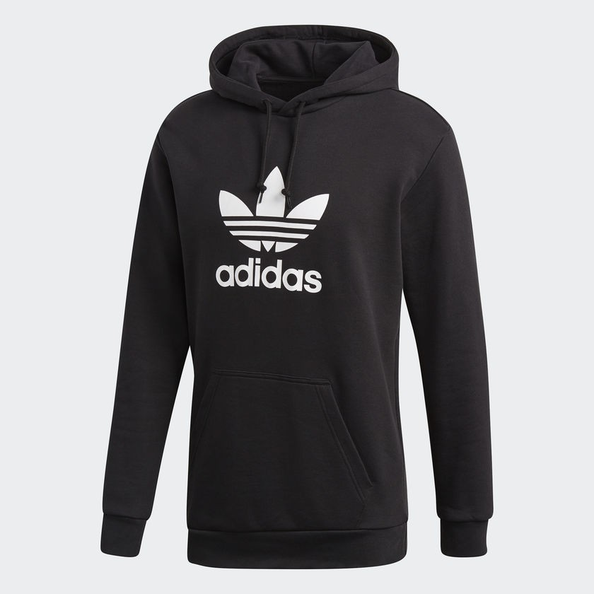 Adidas originals trefoil hoodie 黑色 LOGO 男款 連帽長袖 帽T Dt7964