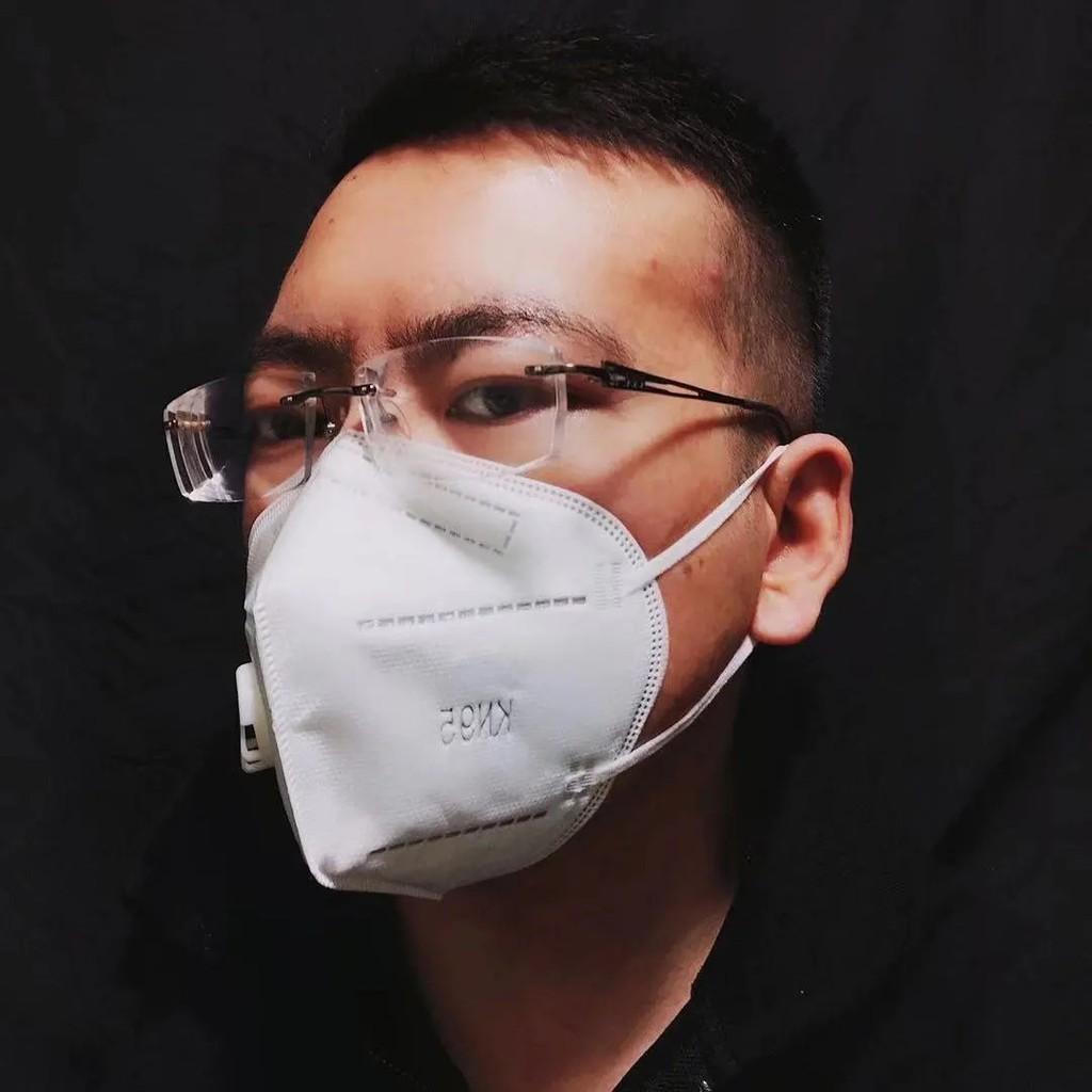 廠現貨直銷 Kn95口罩 五層防病毒 含醫療熔噴布 防飛沫 防塵透氣 高檔 帶閥門 防霾 白色口罩 防粉塵 成人口罩
