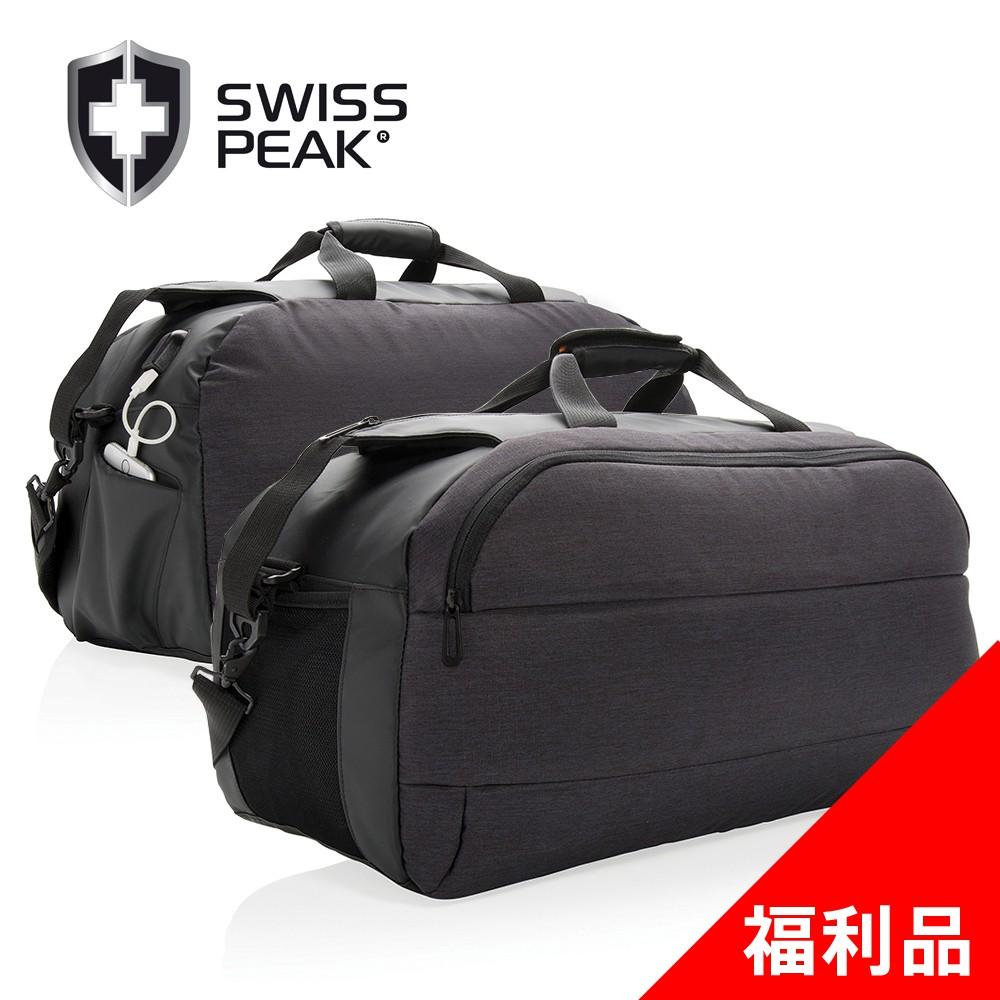SWISS PEAK modern 輕旅行 USB外接充電 Weekend行李袋