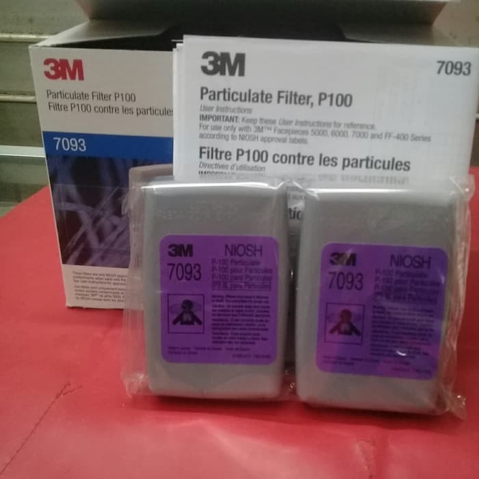 3M 7093 隔天出貨 濾棉匣 NIOSH認證 P100等級 6200 7502 6800面罩