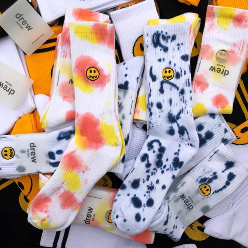 美國正品🇺🇸代購Drew house sock渲染 滿版 笑臉 小賈斯汀 襪子 長襪 滑板襪 男女