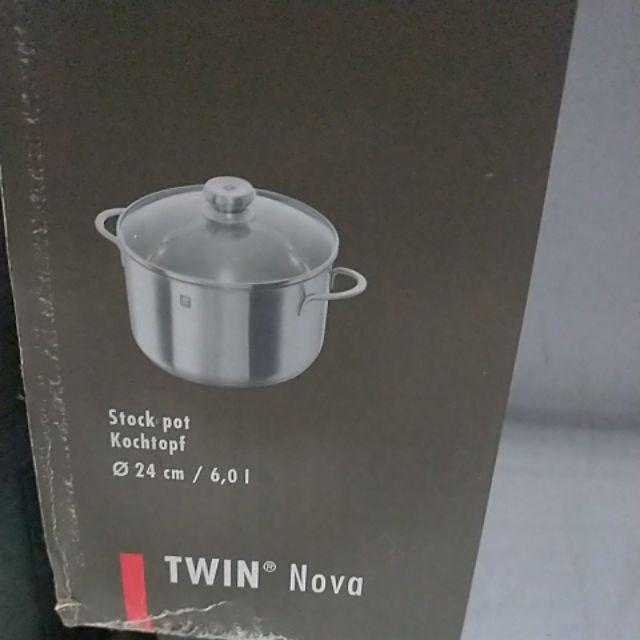 德國雙人牌 不鏽鋼湯鍋 24cm 20cm