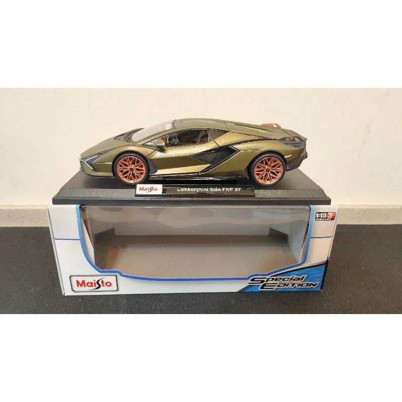 好事多代購 1/18 Maisto Lamborghini Sian 金屬模型車