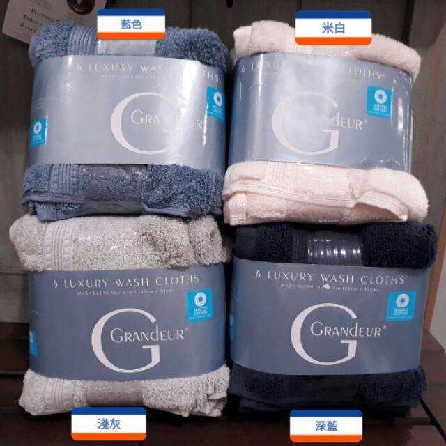 【6入】Grandeur 印度低捻純棉方巾 33*33cm / COSTCO 好市多代購