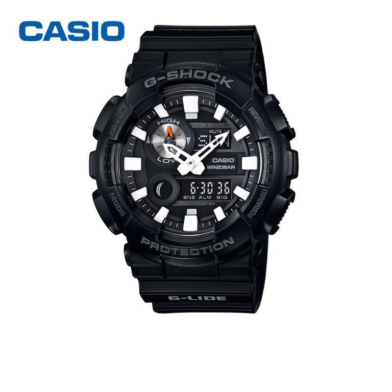 CASIO/卡西歐/G-SHOCK雙顯時尚運動防水電子手錶男錶GAX-100B-1A 6jxr