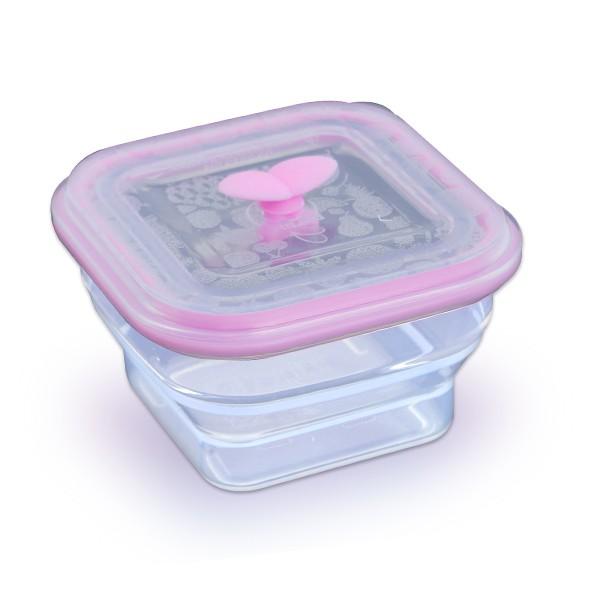 Partita 帕緹塔 伸縮矽膠保鮮盒350ml(粉色)