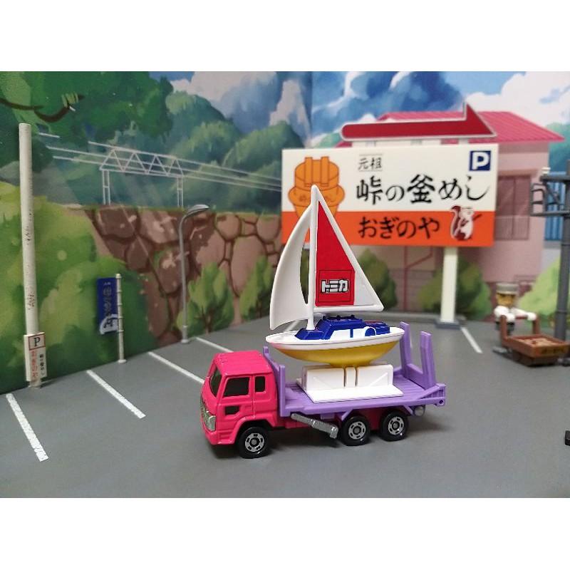 TOMICA 多美 趣味的拖車 風帆 帆船 搬運車 搬送車 運輸車 盒組 套組