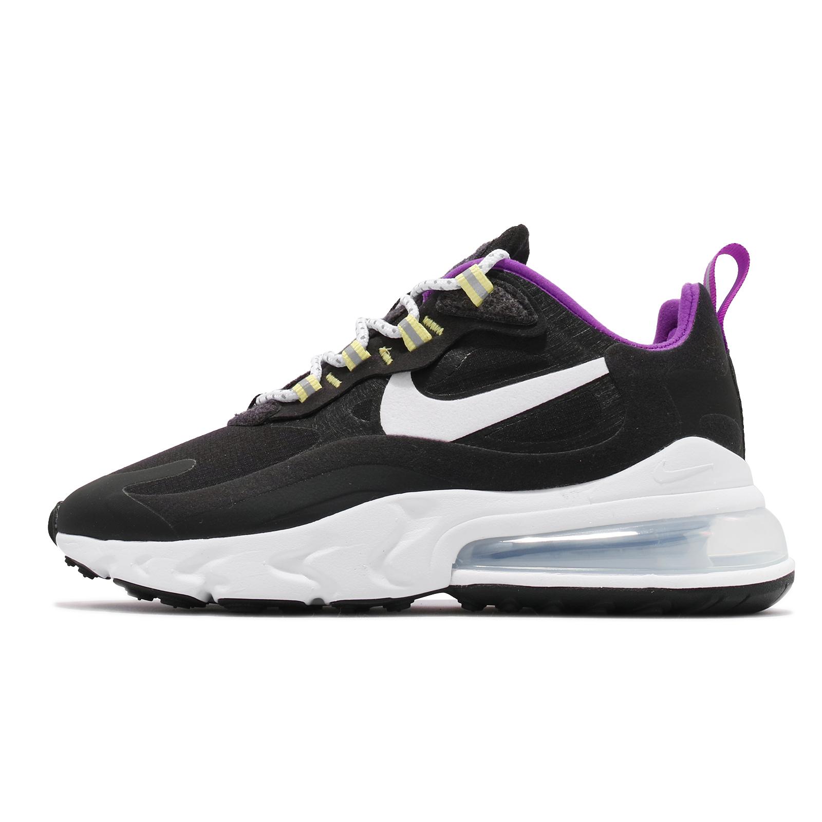Nike 休閒鞋 Air Max 270 React SE 黑白 紫 女鞋 厚底 大氣墊【ACS】 CV7956-011