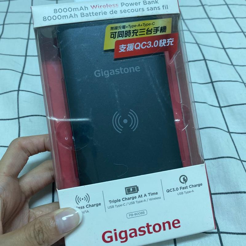 全新)Gigastone type-c雙向快充無線充電QC3.0行動電源