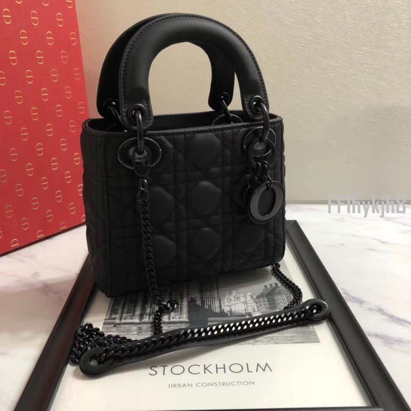 二手正品迪奧 Dior 啞光 黑色 mini 黛妃包 手提包 肩背包