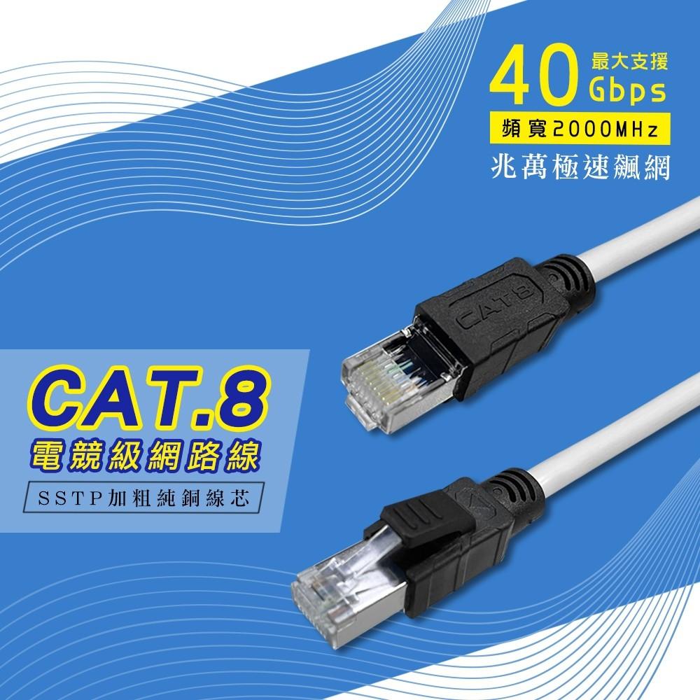 CAT.8 SSTP 電競級網路線 1米/2米/3米/5米/10米/15米