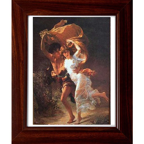 開運陶源 【Storm暴風雨】奧古斯特(Pierre Auguste Cot) 羅浮宮世界名畫 掛畫 38x32cm