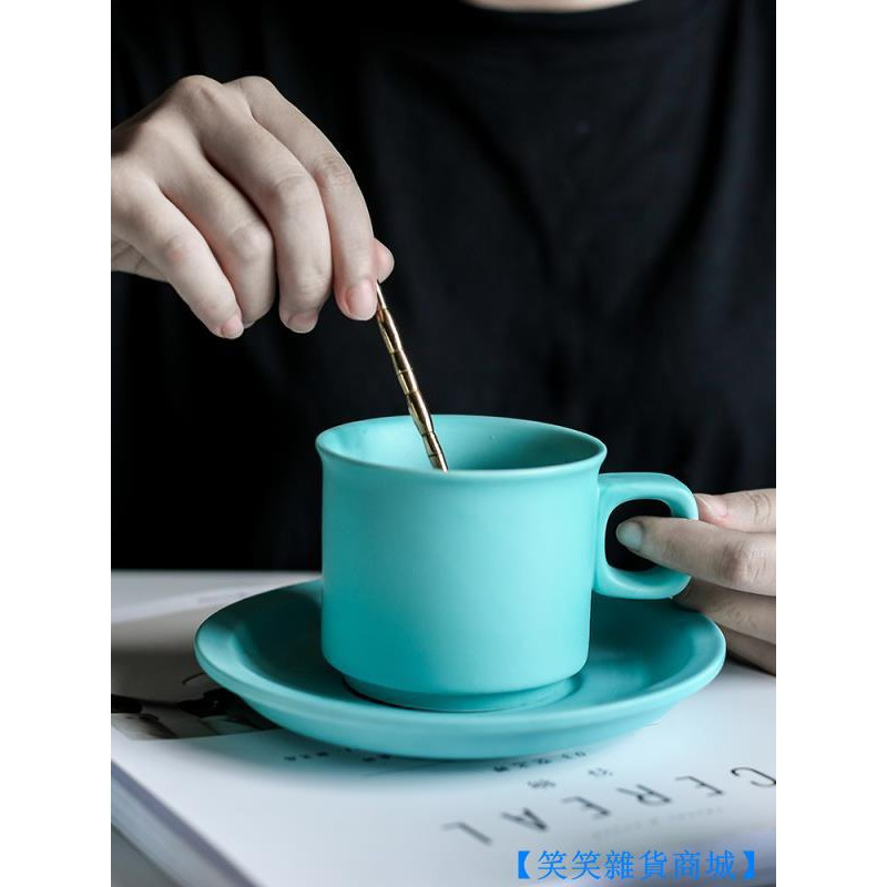 【笑笑雜貨商城】BD簡約北歐ins餐廳家用陶瓷水壺杯子套裝啞光花茶壺帶濾網格
