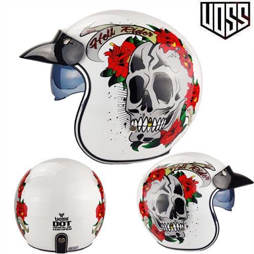 【哈雷頭盔】 VOSS復古哈雷頭盔男女半盔踏板機車頭盔半覆式安全帽3/4盔個性酷