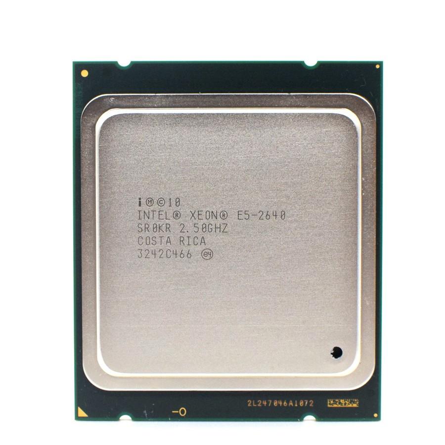 英特爾至強E5-2640六核15M緩存/2.5/GHz/8.00 GT / s 95W LGA 2011 E5 2640