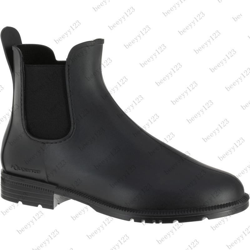 迪卡儂馬術靴馬術鞋馬靴雨靴雨鞋短靴初學騎馬靴男雨鞋女兒童IVG2
