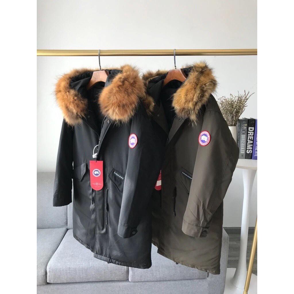 Canada Goose加拿大鵝秋冬情侶款羽絨服中長版狼毛毛領可脫卸羽絨外套18398573 DX5010