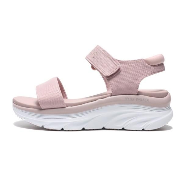 *賓工廠*SKECHERS DLEXWALKER 涼鞋 粉白 黏帶涼鞋 增高 女版 119226BLSH