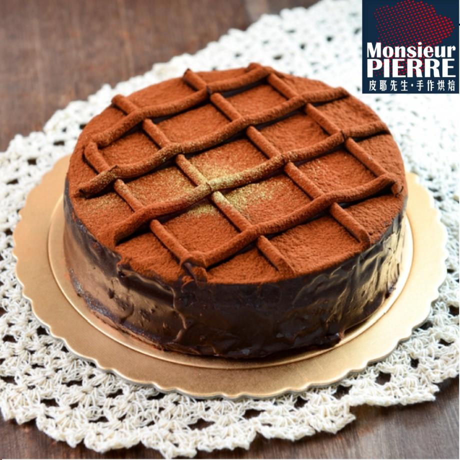 皮耶先生|特濃古典甘那許蛋糕(6吋/入) 蘋果日報評鑑巧克力蛋糕冠軍 超值美味