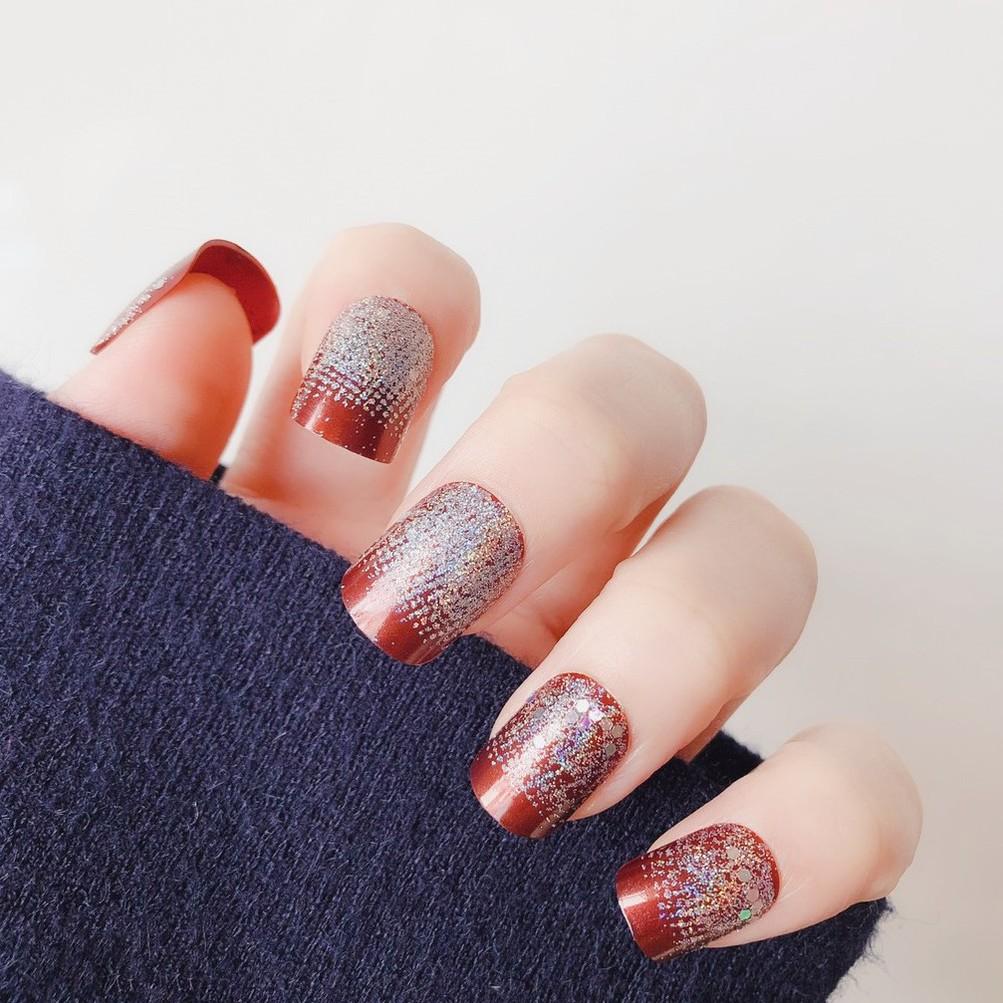 指甲貼片 NL099 閃粉簡單穿戴美甲假指甲貼片成品【買1送5配件】
