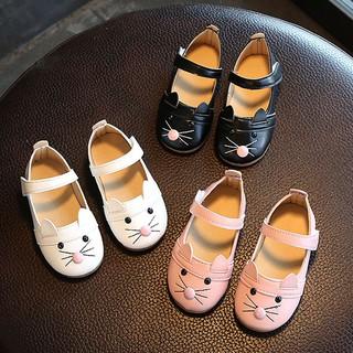 tracymic Kids Baby Girl Fashion Princess Cat Dance Nubuck皮革單