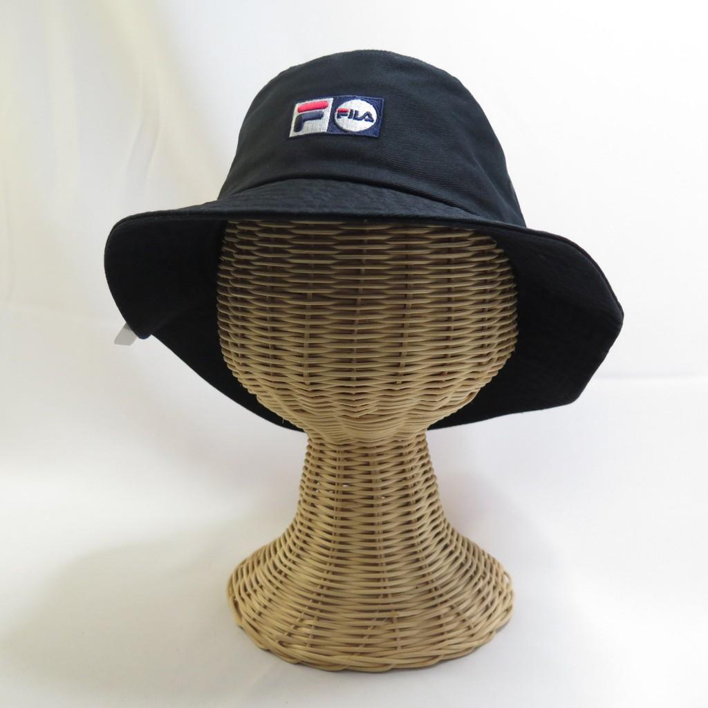 FILA 小LOGO 寬帽簷 漁夫帽 運動帽 HTU5210BK 黑色【iSport愛運動】
