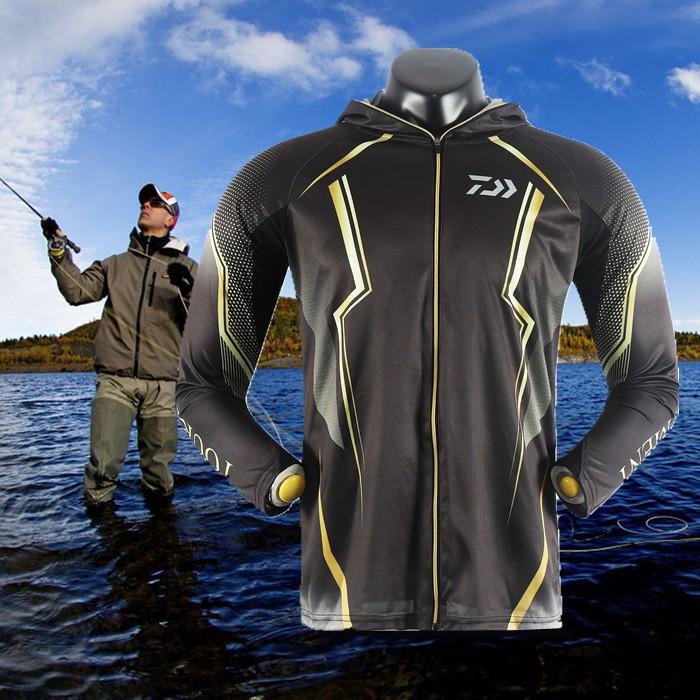 現貨DAIWA釣魚連帽衣服釣魚服長袖襯衫