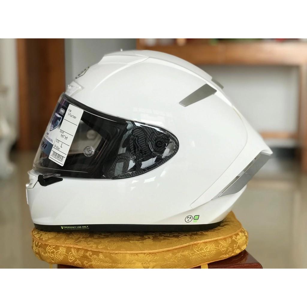 日本 shoei x14頭盔 x14 亮白全盔安全帽 休一頭盔 素白色全盔 機車 摩托車 電動車 四季通用男女全罩安全帽