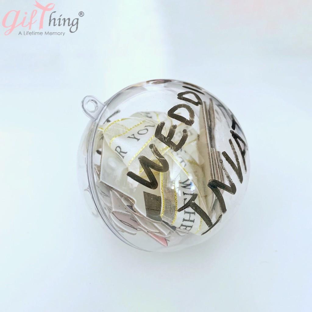 Gifthing壓克力球 透明球 婚禮小物 塑膠球 乾燥花球 永生花球 吊飾球 扭蛋球 聖誕球