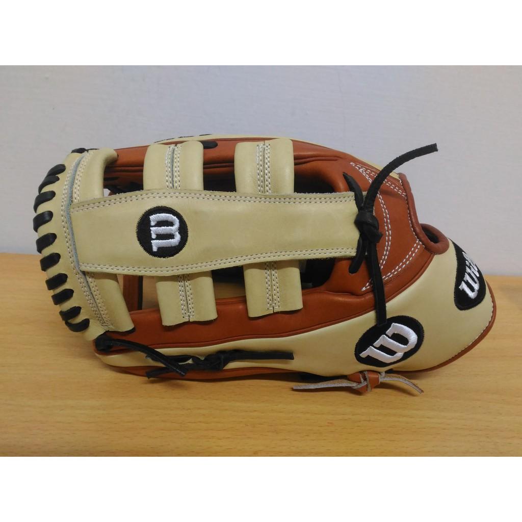 """威爾森 WILSON A2K 1775 美規 日本製 外野 雙十字 12.75"""" 反手 左投 棒球手套 壘球手套"""