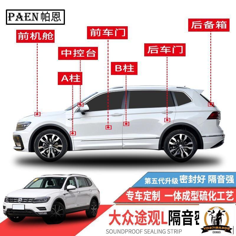 (現貨☆免運)VW New Tiguan 系列 適用 隔音條 全車隔音套組 汽車隔音條 車門隔音 防塵 防撞膠條/阿斯蒂