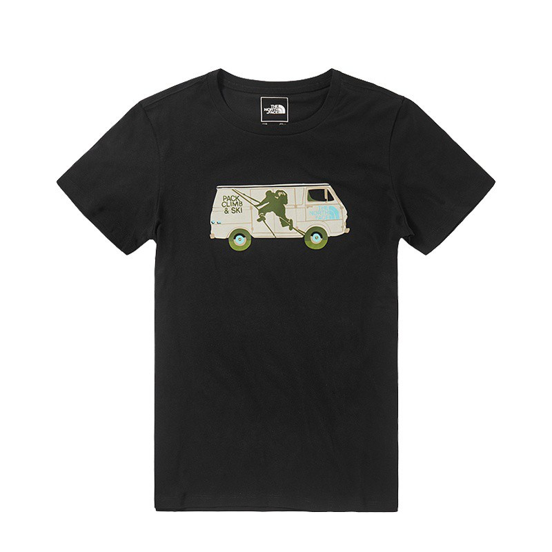 THE NORTH FACE|中性露營車黑色短T