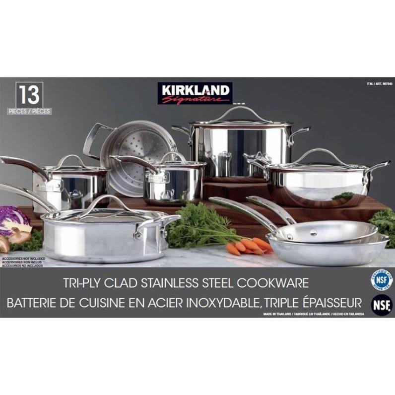 Kirkland 三層結構 18/10不鏽鋼鍋具 NSF認證 拆售 平底鍋 深煎鍋 湯鍋 蒸籠 COSTCO 代購好市多