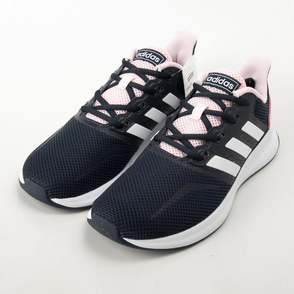 ADIDAS  女款慢跑鞋-丈青/白/粉 EF0152  現貨