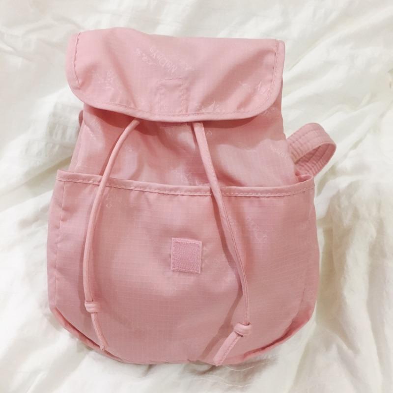 曼谷Naraya包 輕便小巧後背包 粉色/米色 泰國購入保證正品