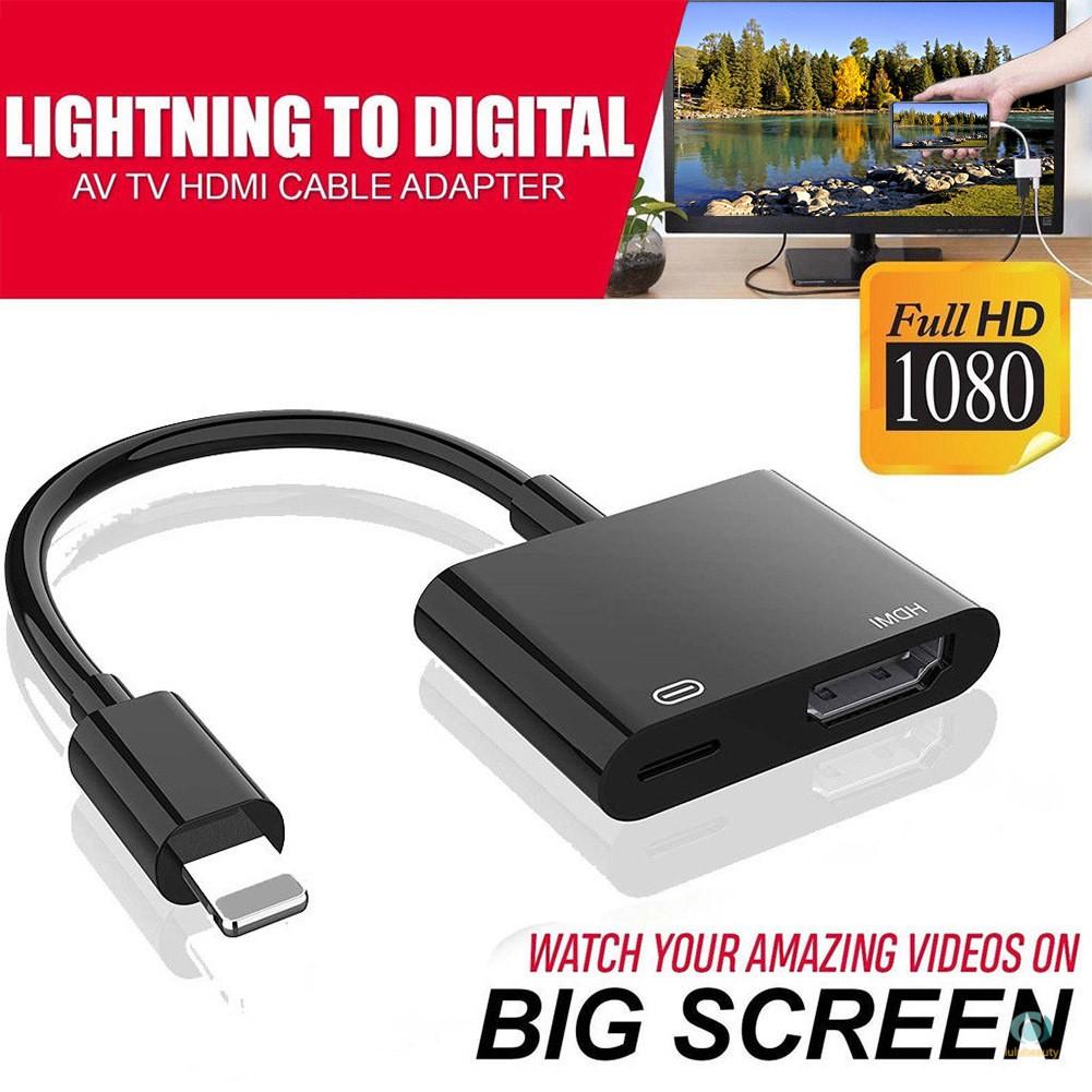 1080p 8 針用於閃電轉 Hdmi 電視 Av 適配器電纜, 適用於 Iphone X 6s 7 8 Plus Ip