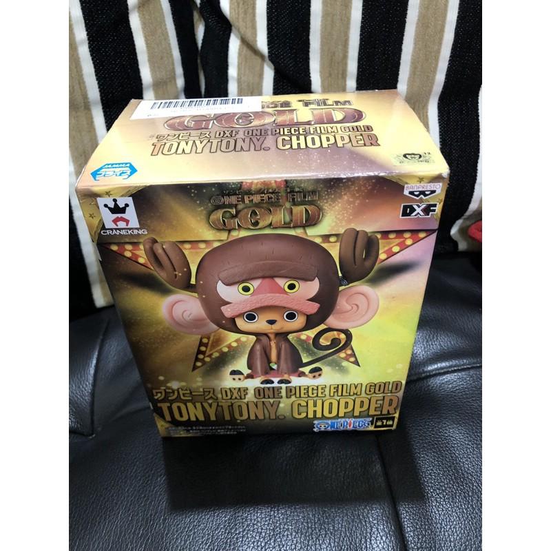 [OX小鋪]日版 金證 海賊王 航海王 黃金城 DXF GOLD 喬巴 猴子 寬盒 景品 內袋全新未拆 如圖