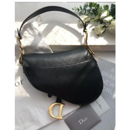 【二手正品】98新 【Dior】 黑色 馬鞍包