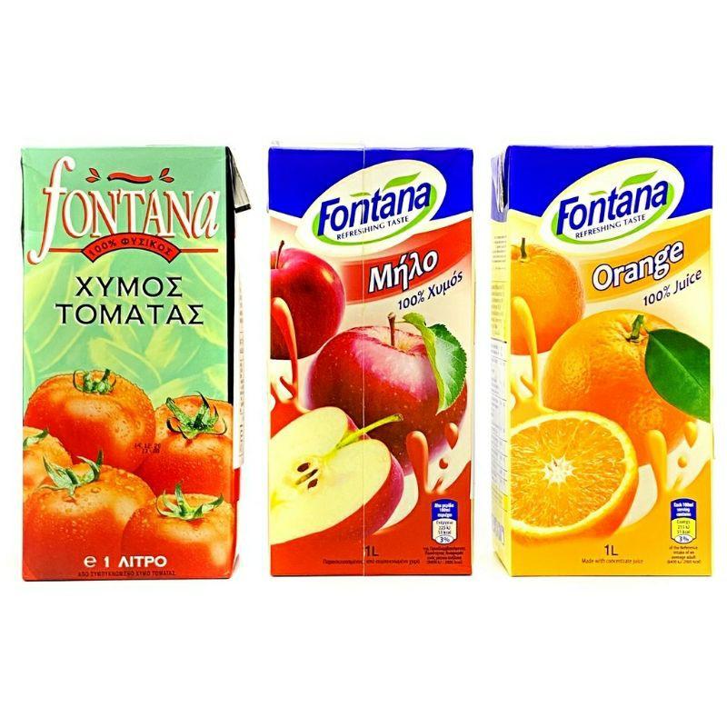 #寄ok滿99免運【現貨】Fontana 柳橙汁 蘋果汁 番茄汁 果汁 1公升 歐洲原裝進口 長榮航空