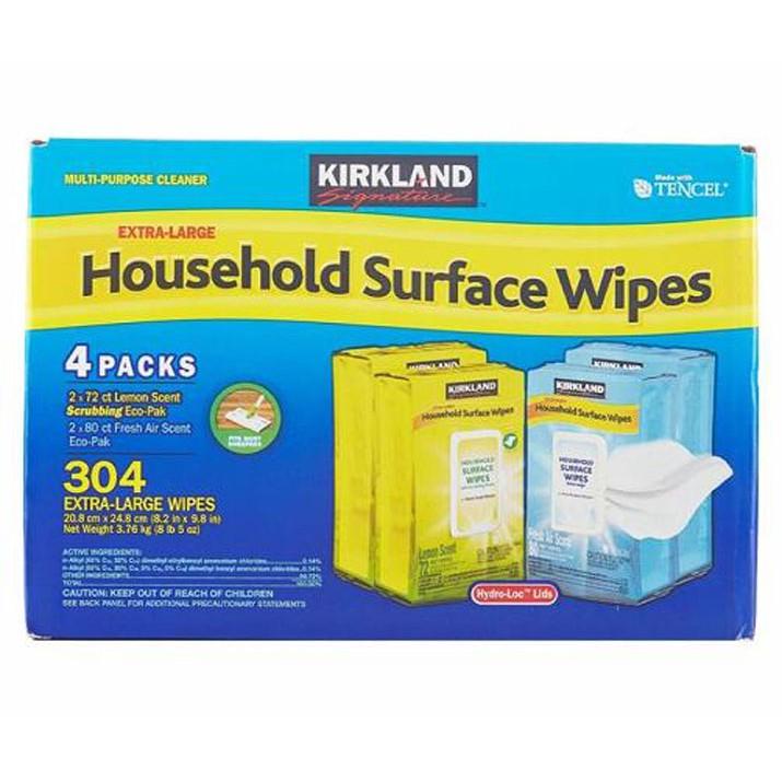 科克蘭 家用清潔擦拭濕巾 304張 (72張 X 2入+ 80張 X 2入) W914131
